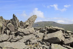 Rocky outcrops on Bera Mawr stock images
