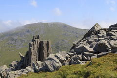 Rocky outcrops on Bera Mawr Royalty Free Stock Photo