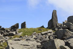 Rocky outcrops on Bera Mawr Royalty Free Stock Photos