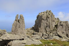 Rocky outcrops on Bera Mawr Royalty Free Stock Photography