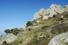 Rocky outcrops on Mort Point Royalty Free Stock Images