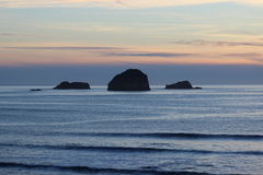 Rocky outcrops Pacific Ocean West Coast Oregon Royalty Free Stock Images