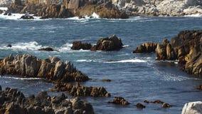 Rocky Pacific Grove Coast Loop - California stock video footage
