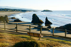 Rocky Pacific Northwest-strandlandschap Royalty-vrije Stock Afbeelding