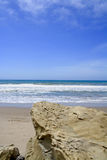 Rocky Pacific Ocean Shoreline Ventura California Stock Photo