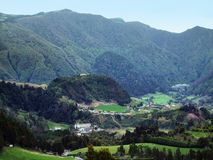 Rocky panoramic view at the Azores stock images