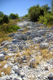 Rocky path leading to the top of the mountains Royalty Free Stock Photography