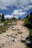 Rocky path in mountains Royalty Free Stock Image