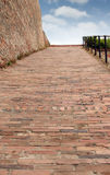 Rocky path Petrovaradin fortress Royalty Free Stock Images