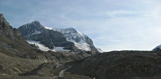 Rocky Path to the Glacier Royalty Free Stock Images