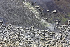 Rocky patterns on the sea bed. Juraissic Coast Dorset England clifftop view in Kimmeridge Bay Royalty Free Stock Image
