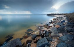 rocky peacuful brzegu Zdjęcie Royalty Free