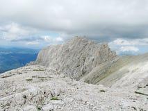 Rocky peak of Apennine Mountain Range Stock Image
