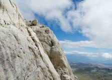 Rocky peak of Apennine Mountain Range Royalty Free Stock Photos