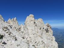 Rocky peak of Apennine Mountain Range Royalty Free Stock Images