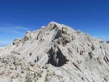 Rocky peak of Apennine Mountain Range Stock Photography