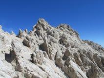 Rocky peak of Apennine Mountain Range Stock Images
