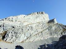 Rocky peak Brisi in the Churfirsten Mountain Range. Canton of St. Gallen, Switzerland stock images