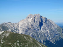 Rocky peak and green valley of Apennine Mountain Range in summer Royalty Free Stock Photography