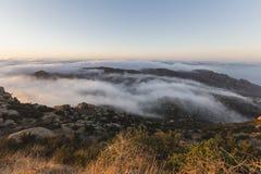 Rocky Peak Morning Fog Los Angeles County California Stock Images