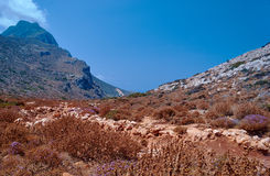 Rocky peak in the mountains on the island of Crete Royalty Free Stock Image