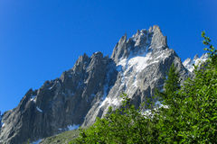 Rocky peaks in the Alps Stock Photo