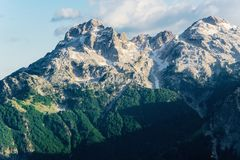 Rocky peaks in hight mountain. Rocky peaks in hight  albanian mountain Stock Image
