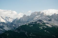 Rocky peaks in hight mountain. Rocky peaks in hight  albanian mountain Stock Images