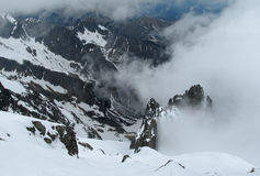 Rocky peaks of Tatra Mountains covered with snow Stock Photography
