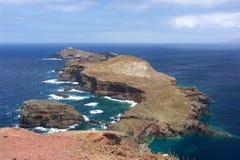 Rocky peninsula. Eastern peninsula Ponta de Sao Lourenco, Madeira royalty free stock photos