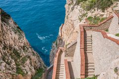 The rocky peninsula of Capo Caccia Royalty Free Stock Images