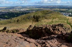 Rocky Perch on Top of Arthur's Seat Stock Photos