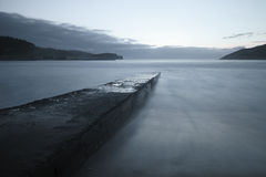 Rocky pier in Plentzia Royalty Free Stock Photography