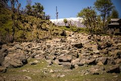 Rocky place. Somewhere in Neelum Valley of AJK pakistan royalty free stock photography