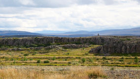 Rocky Plateau. Flat rocky terrain in Iceland Royalty Free Stock Images