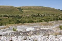 Rocky plateau. Russia, Lysaya Mountain area Royalty Free Stock Photos
