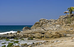 Rocky Point By The Pacific Ocean Royalty Free Stock Photo