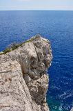 Rocky promontory on the Mediterranean Sea Royalty Free Stock Photography