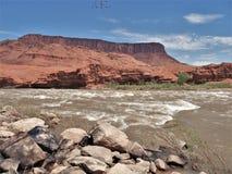 Rocky Rapids en el río Colorado Imagenes de archivo