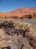 Rocky Rapids op de Rivier van Colorado stock afbeelding