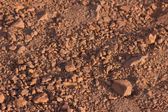 Rocky red earth Royalty Free Stock Image