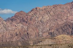 Rocky red granite massif in the Chilean Andes stock images