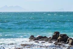 Rocky reef. In ocean blue atlantic Royalty Free Stock Photos