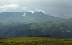 Rocky ridge. This is Rocky ridge in Caucasus mountains in summer Royalty Free Stock Images
