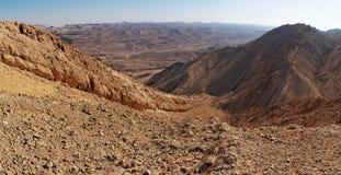 Rocky ridge in the desert Royalty Free Stock Image