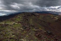 Rocky ridges on the slopes of the Tolbachik Volcano Stock Photography