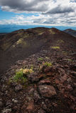 Rocky ridges on the slopes of the Tolbachik Volcano Royalty Free Stock Images