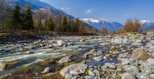 Rocky river in the Alps Royalty Free Stock Image