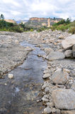 Rocky River Bed in the Andes of Peru Stock Images