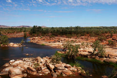 Rocky River Bed in the Outback Royalty Free Stock Photos